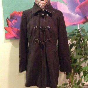 Guess Dark Gray Toggle Wool Jacket